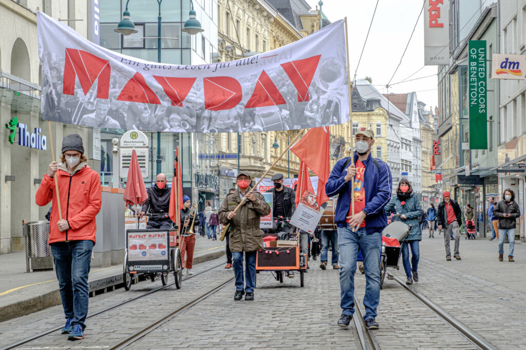 Alternativer 1. Mai - Mayday Linz 2021 (Foto Scheinost)