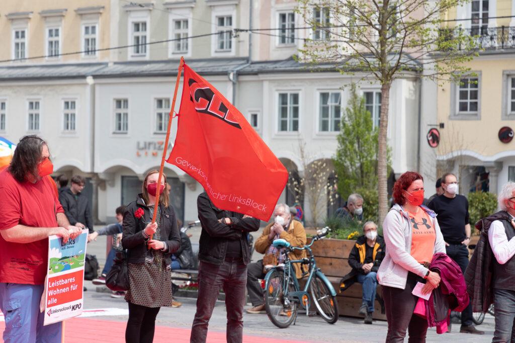 Alternativer 1. Mai - Mayday Linz 2021 (Foto Spiegl)