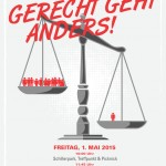 Plakat und FlyerFront Mayday2015 Linz