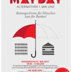 Plakat Alternativer 1. Mai - Mayday Linz 2014 (Design: Michael Holzer)